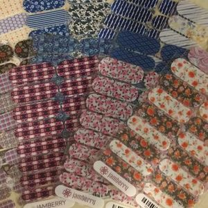 Lot of Jamberry Nail Wraps- Partial Sheets